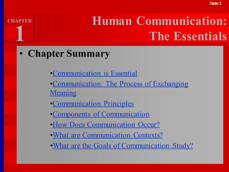 Human Communication: The Essentials