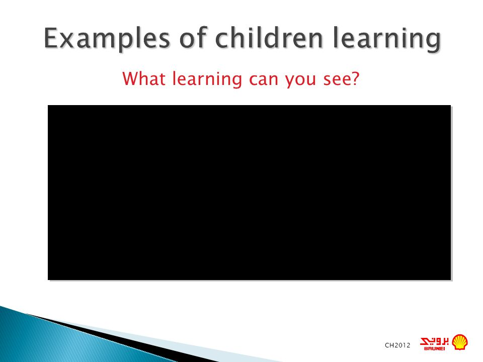 Examples of children learning