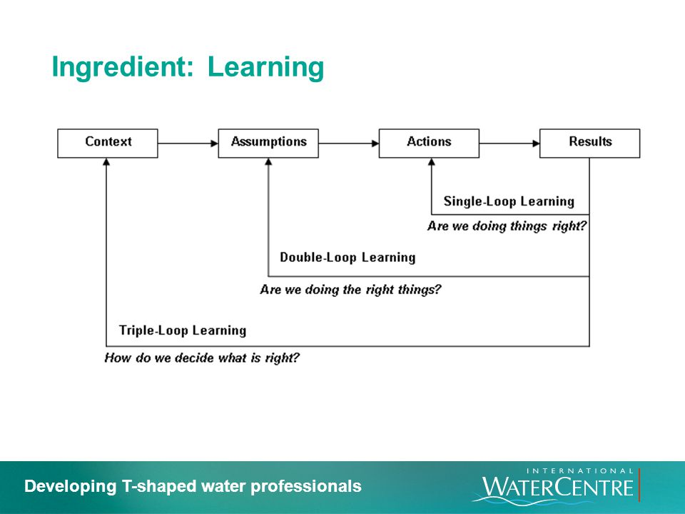 Ingredient: Learning Developing T-shaped water professionals