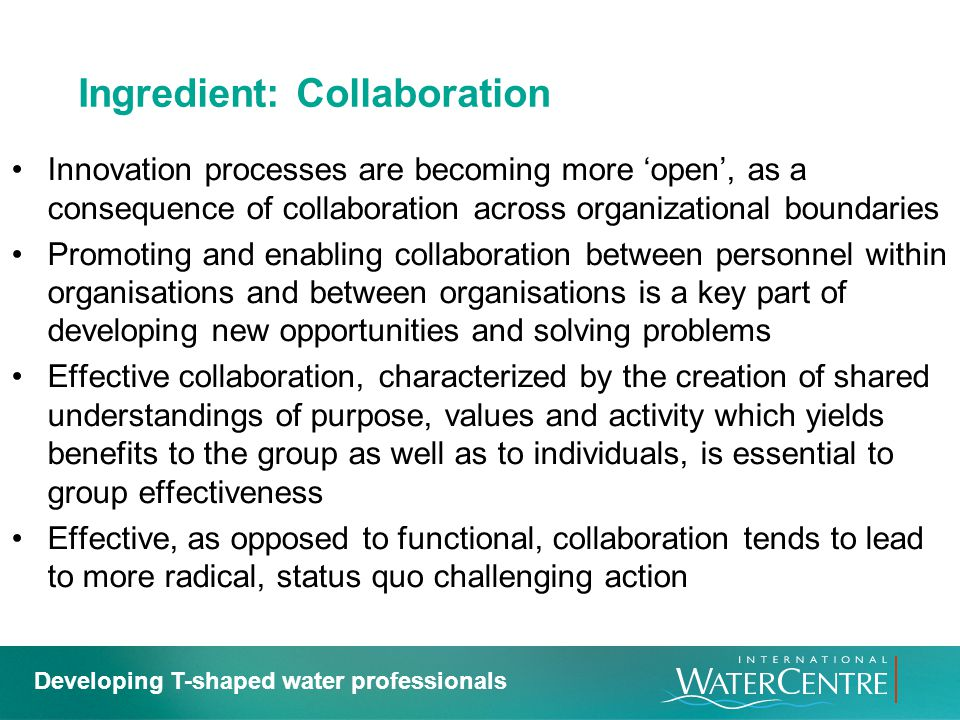 Ingredient: Collaboration