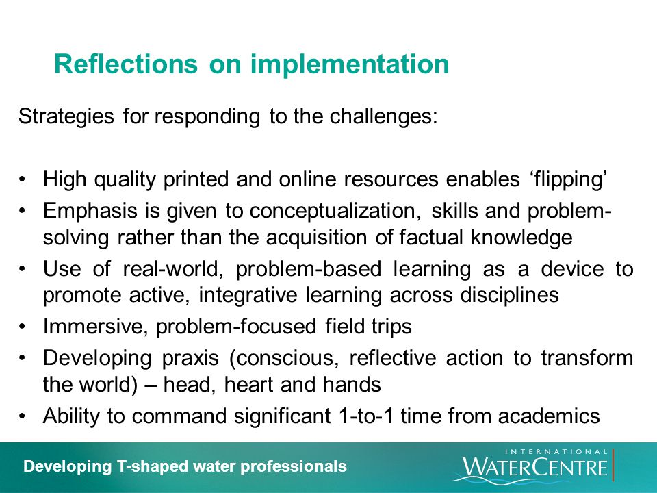 Reflections on implementation