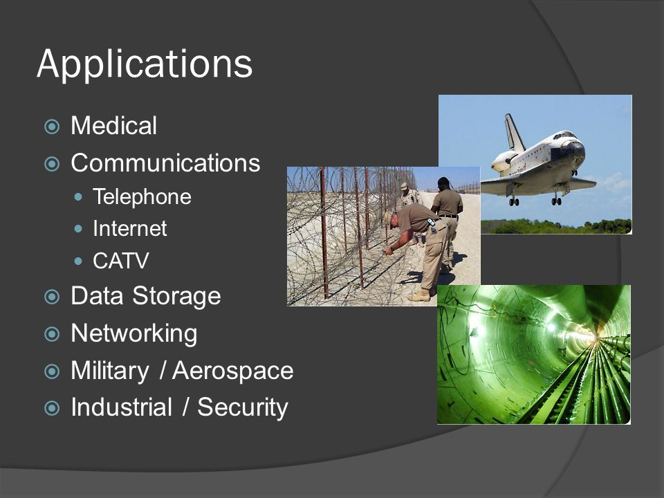 Applications Medical Communications Data Storage Networking