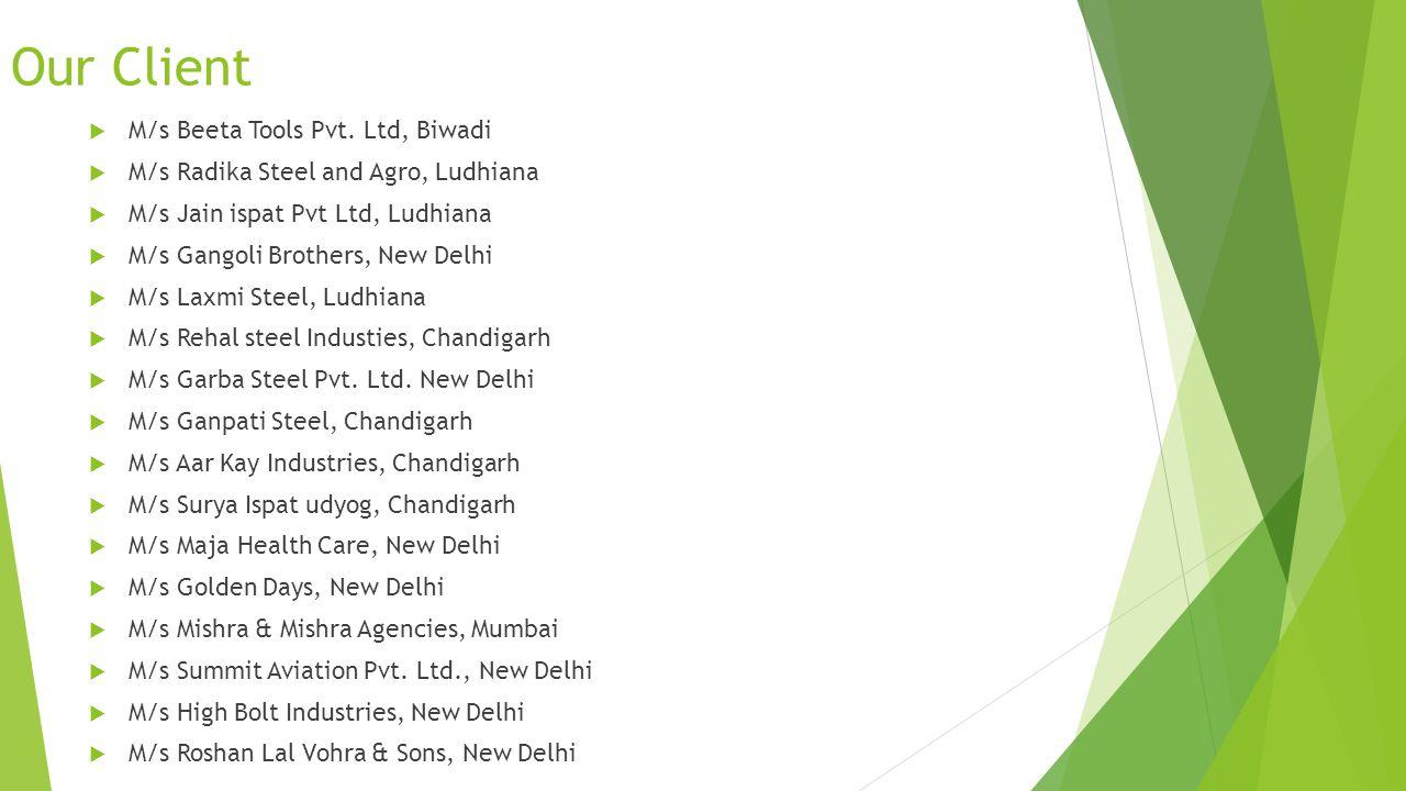 Our Client M/s Beeta Tools Pvt. Ltd, Biwadi