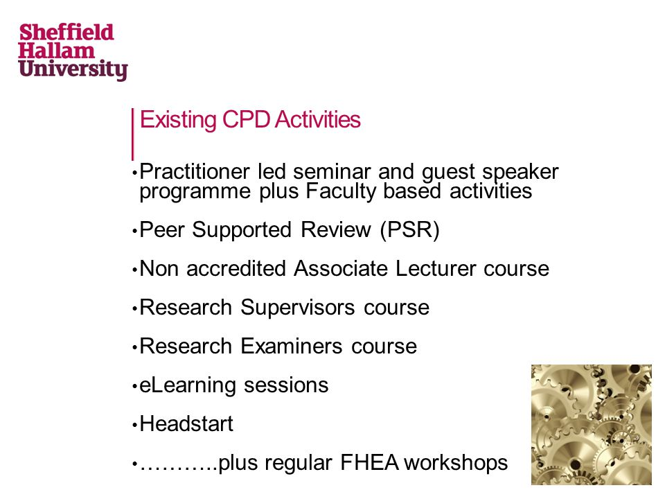 Existing CPD Activities