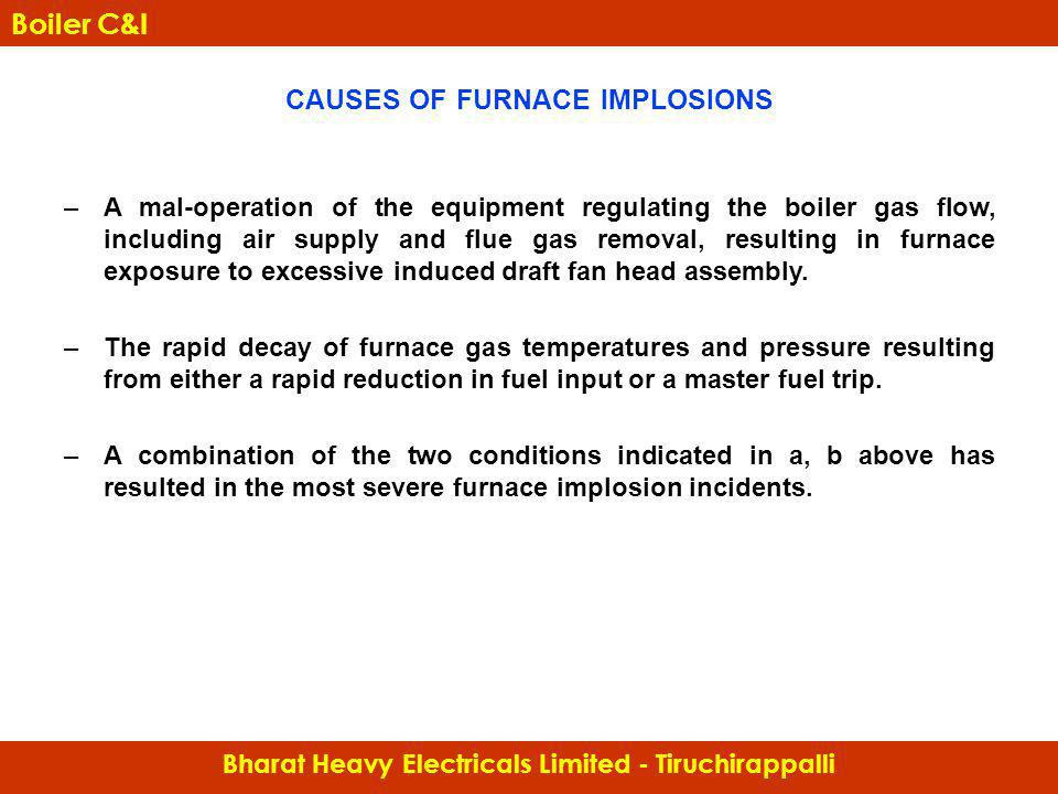 CAUSES OF FURNACE IMPLOSIONS