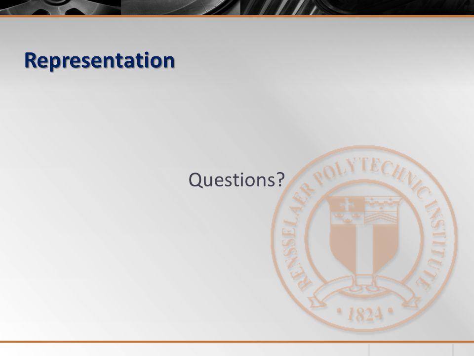 Representation Questions