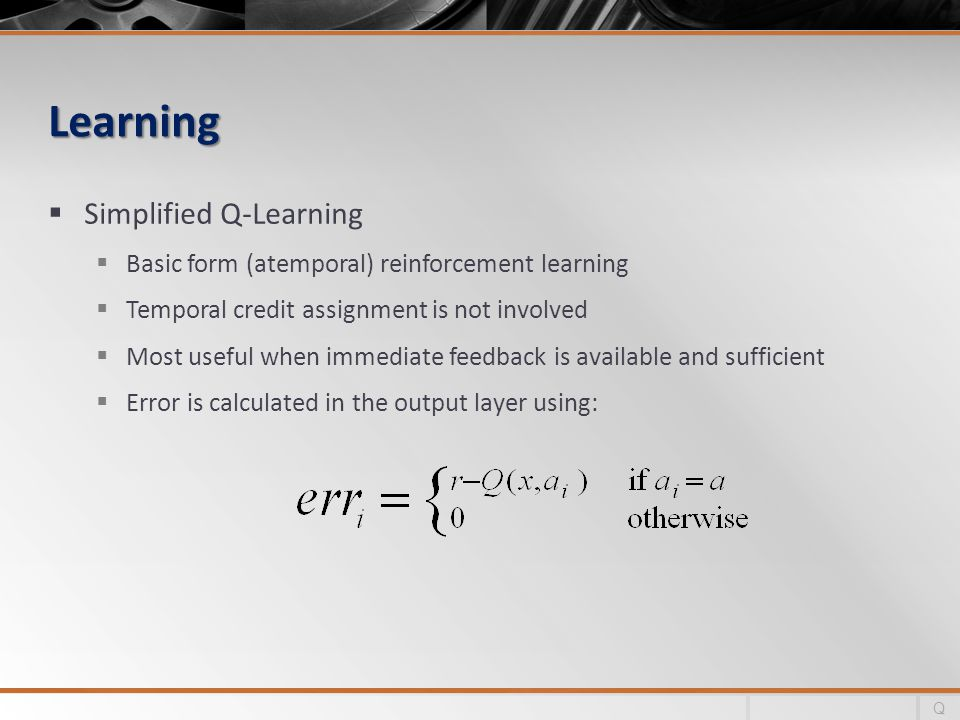 Learning Simplified Q-Learning