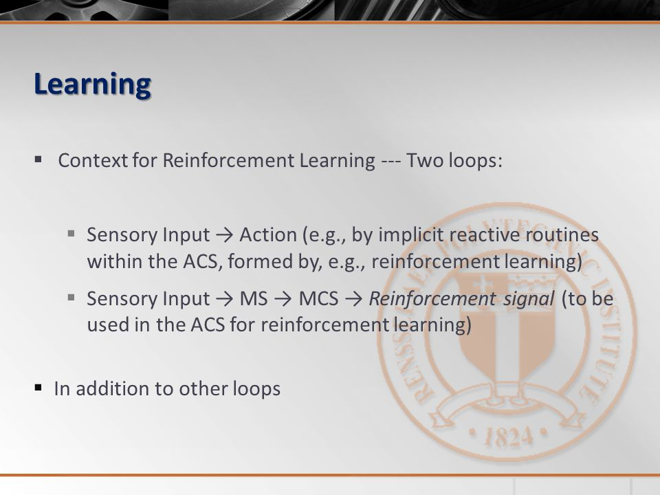 Learning Context for Reinforcement Learning --- Two loops: