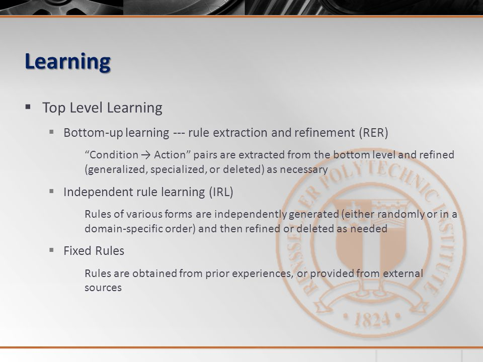 Learning Top Level Learning