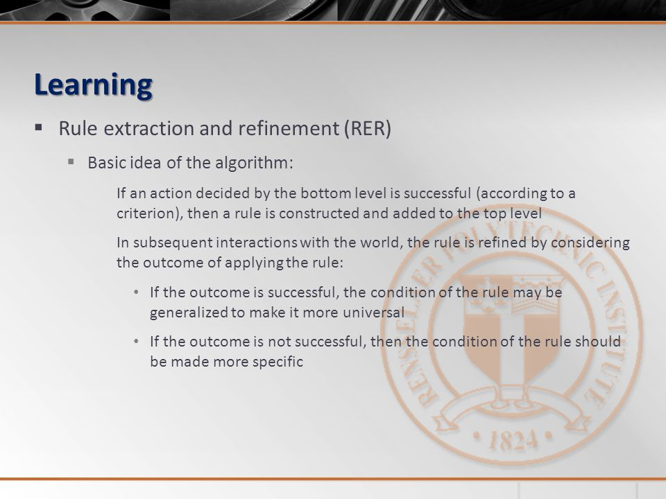 Learning Rule extraction and refinement (RER)