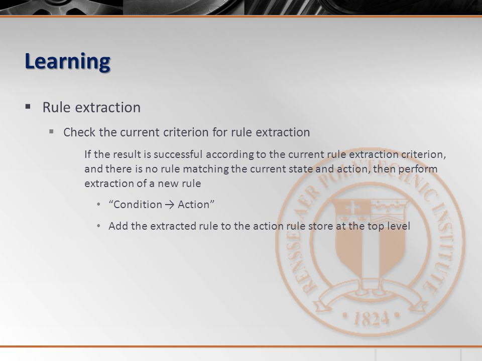 Learning Rule extraction