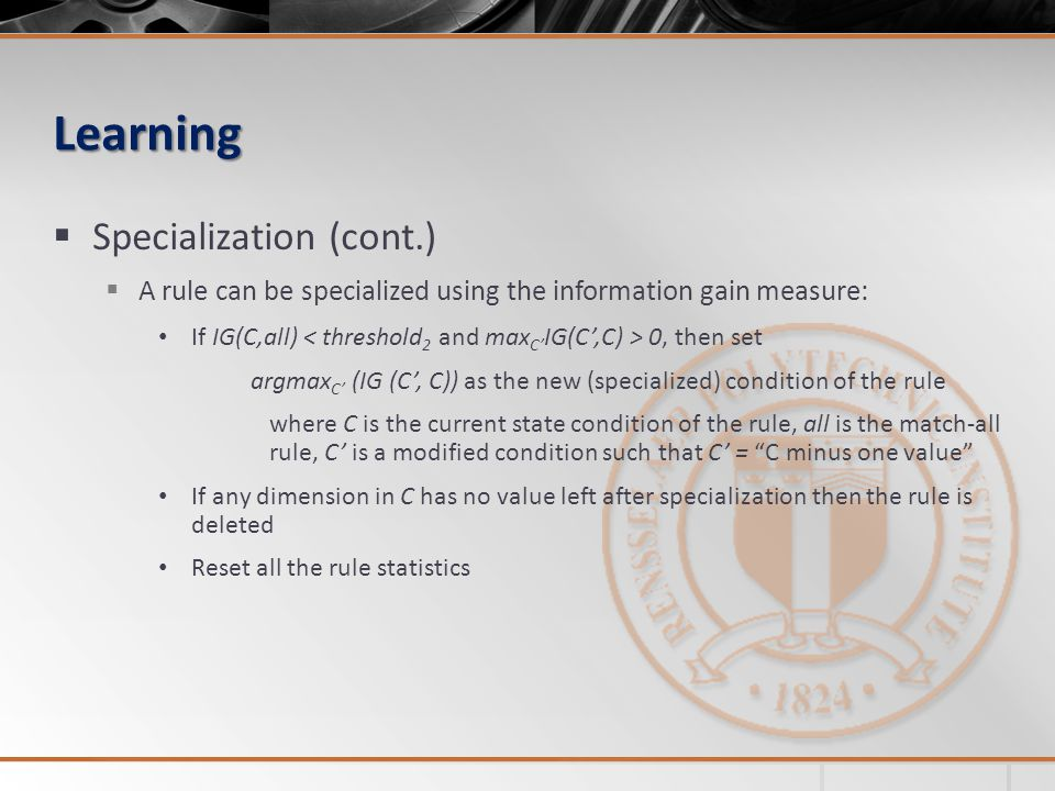 Learning Specialization (cont.)