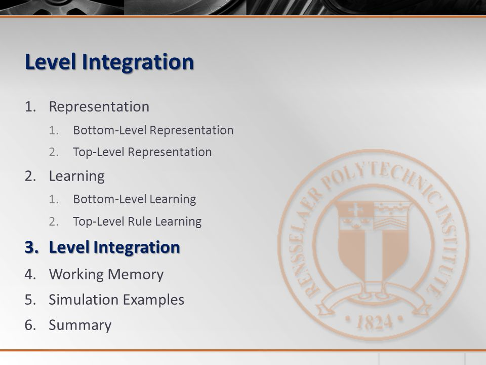 Level Integration Level Integration Representation Learning
