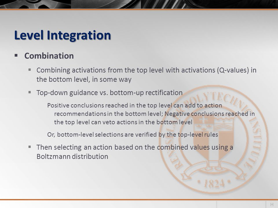 Level Integration Combination
