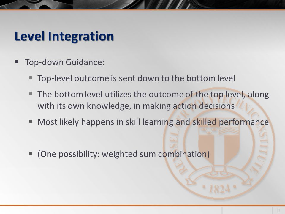Level Integration Top-down Guidance: