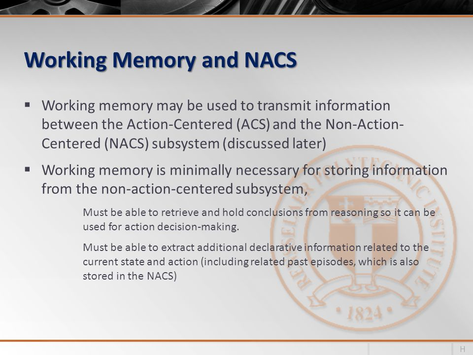 Working Memory and NACS