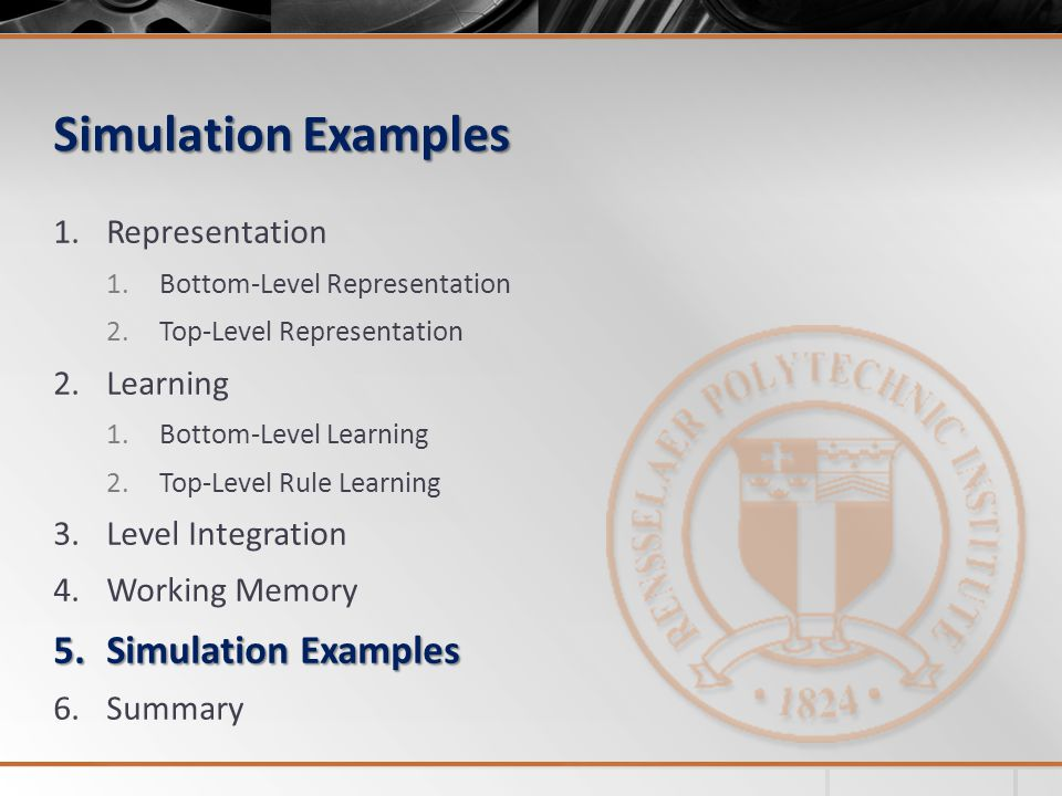 Simulation Examples Simulation Examples Representation Learning