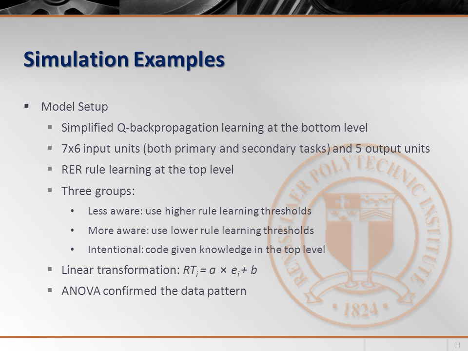 Simulation Examples Model Setup