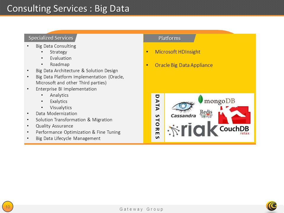 Consulting Services : Big Data