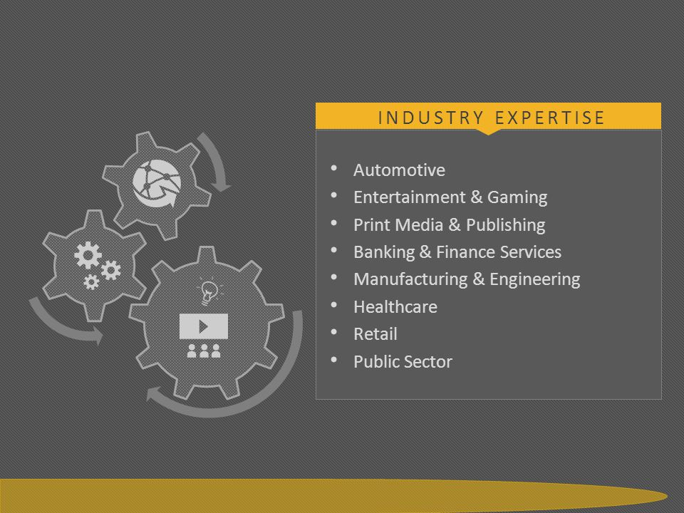 Industry Expertise Automotive Entertainment & Gaming