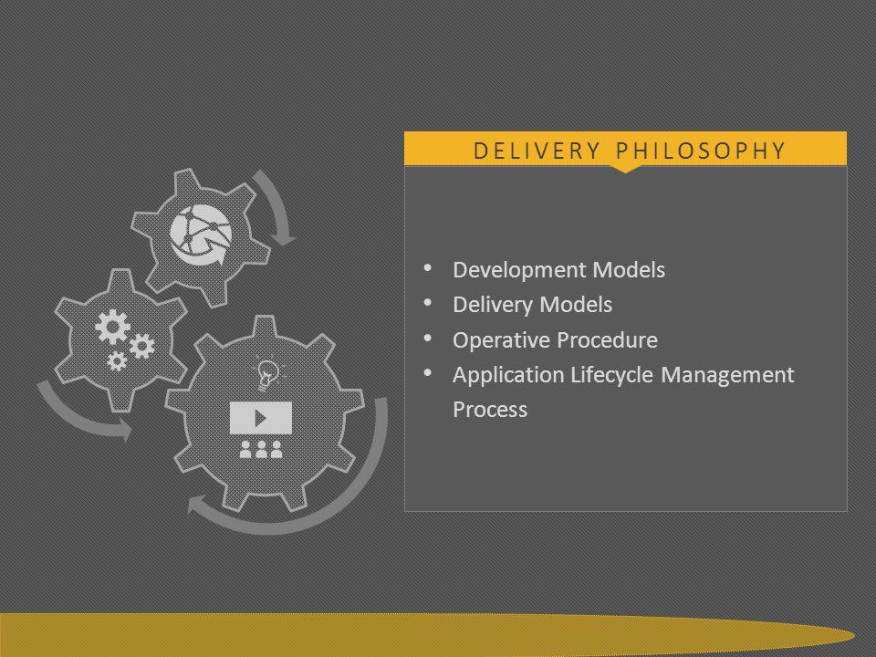 Delivery Philosophy Development Models Delivery Models