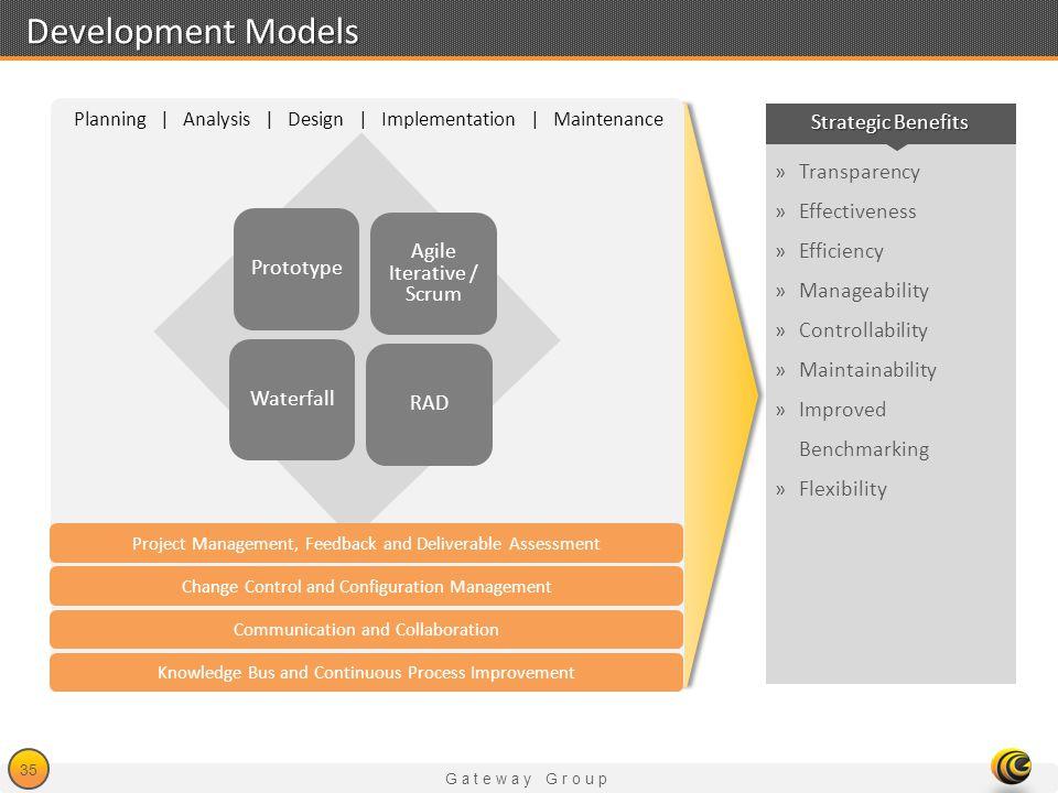 Development Models Strategic Benefits Transparency Effectiveness
