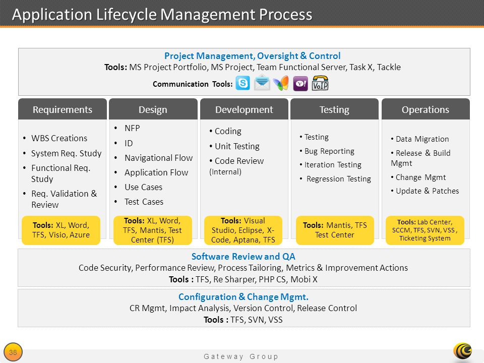 Application Lifecycle Management Process