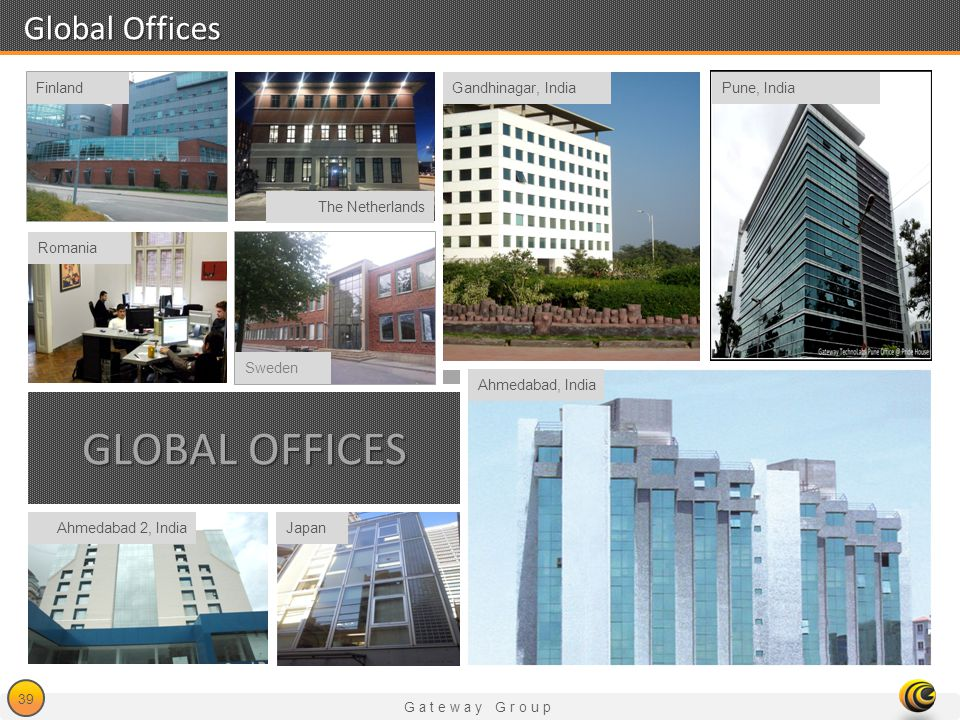 Global Offices Global Offices Finland Gandhinagar, India Pune, India