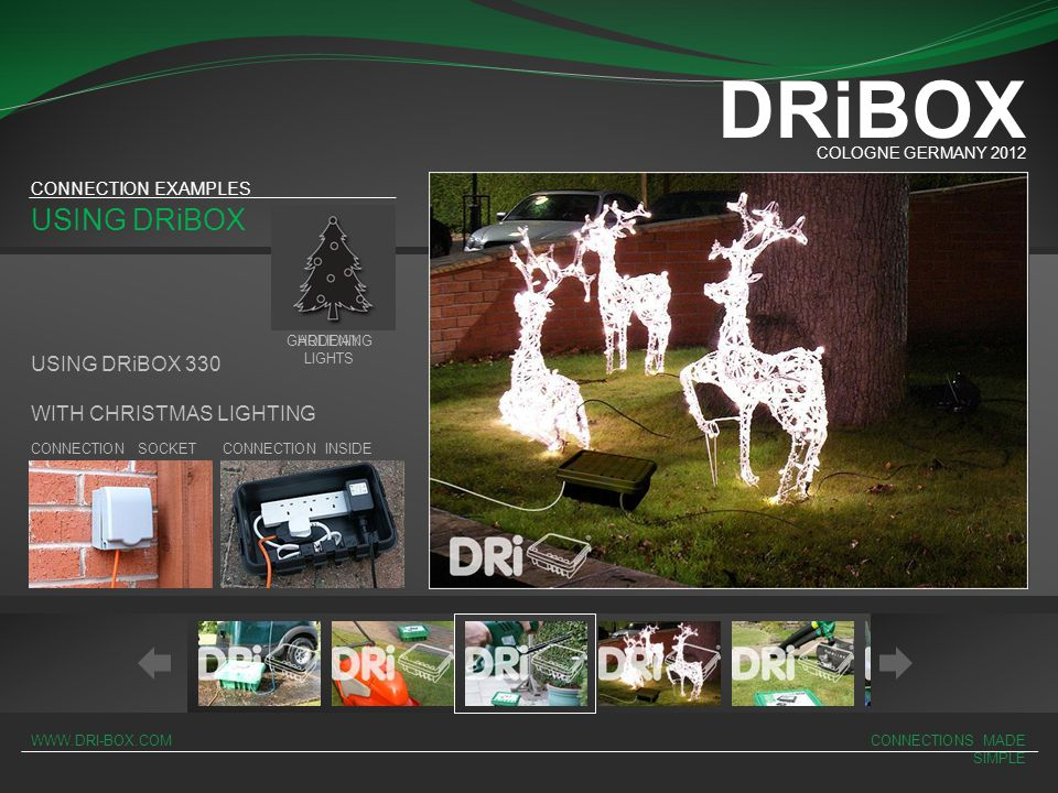 DRiBOX USING DRiBOX USING DRiBOX 330 WITH CHRISTMAS LIGHTING