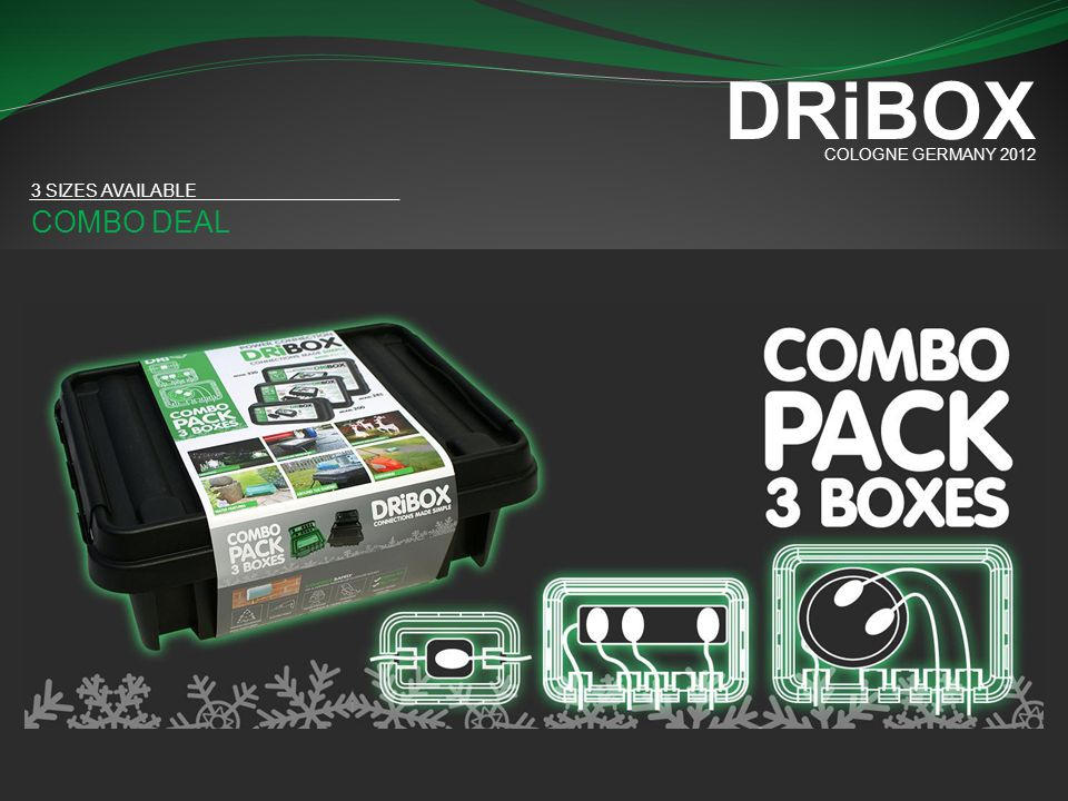 DRiBOX COLOGNE GERMANY 2012 3 SIZES AVAILABLE COMBO DEAL