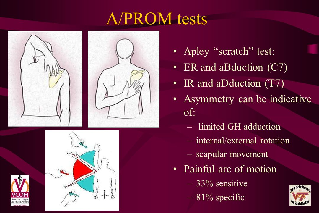A/PROM tests Apley scratch test: ER and aBduction (C7)