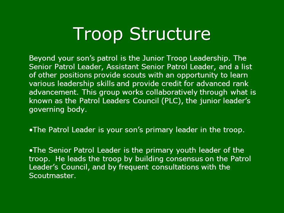 Troop Structure
