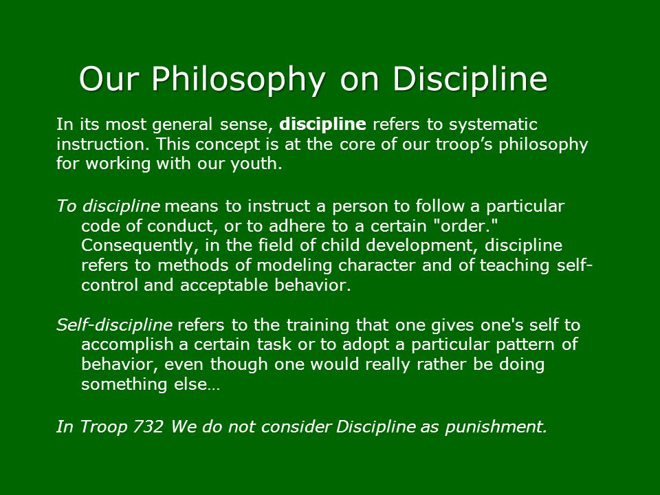 Our Philosophy on Discipline