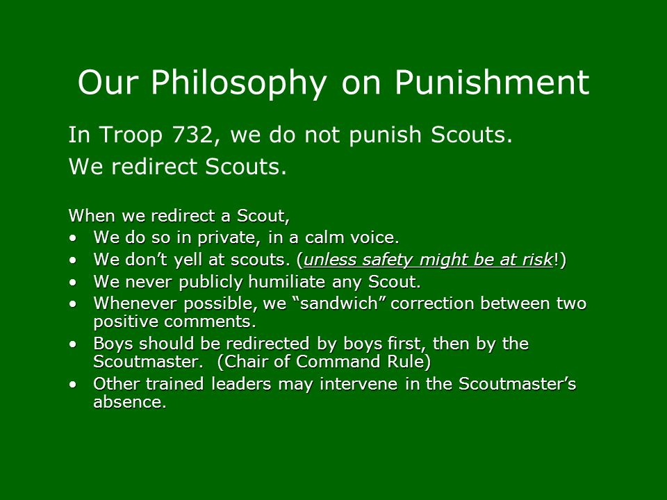 Our Philosophy on Punishment
