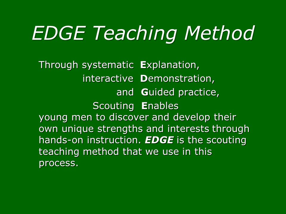 EDGE Teaching Method