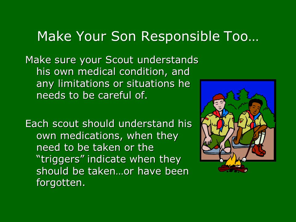 Make Your Son Responsible Too…
