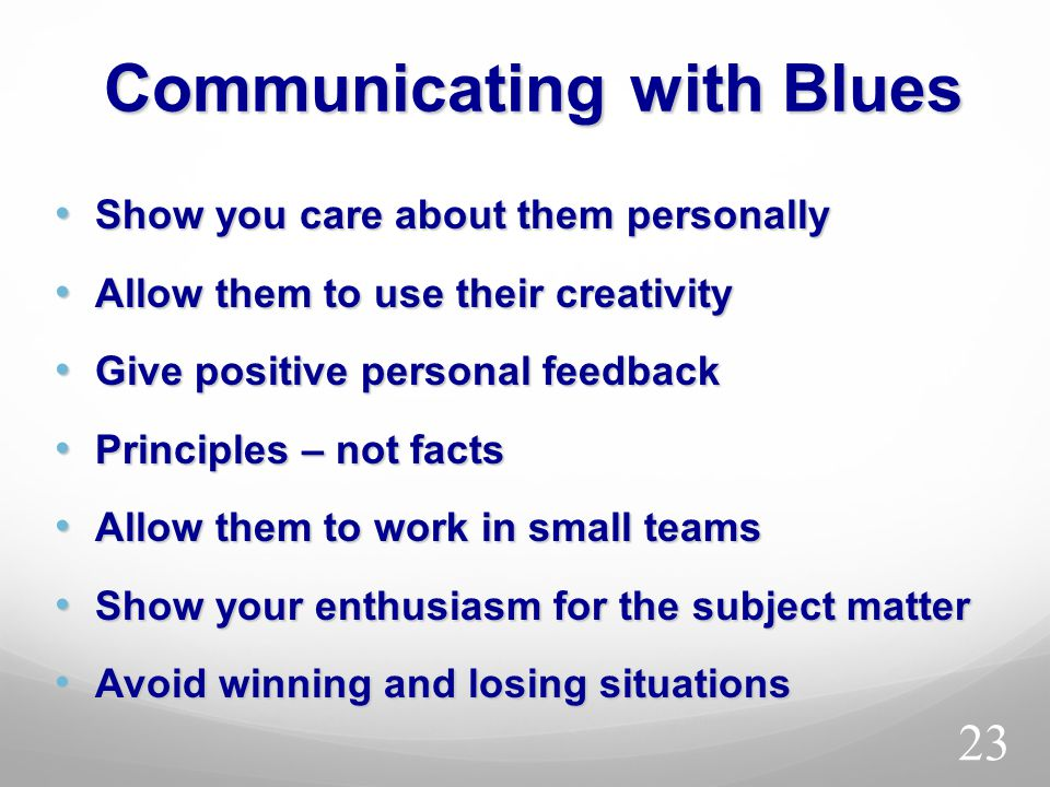 Communicating with Blues