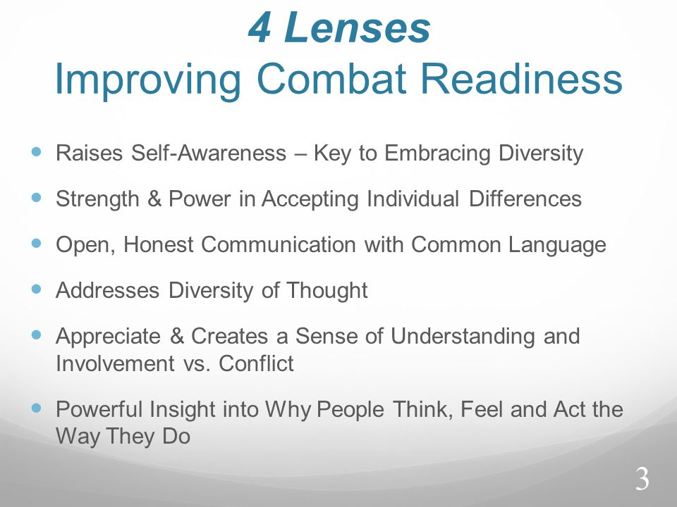 4 Lenses Improving Combat Readiness