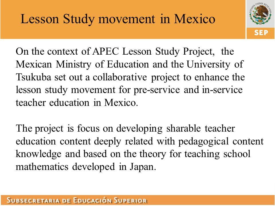 Lesson Study movement in Mexico