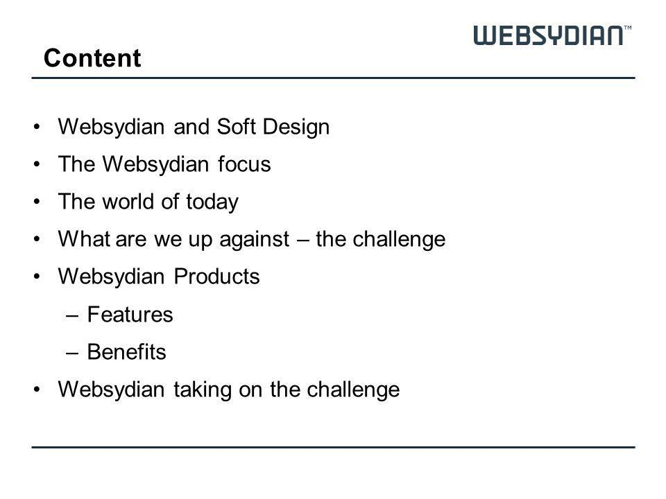 Content Websydian and Soft Design The Websydian focus