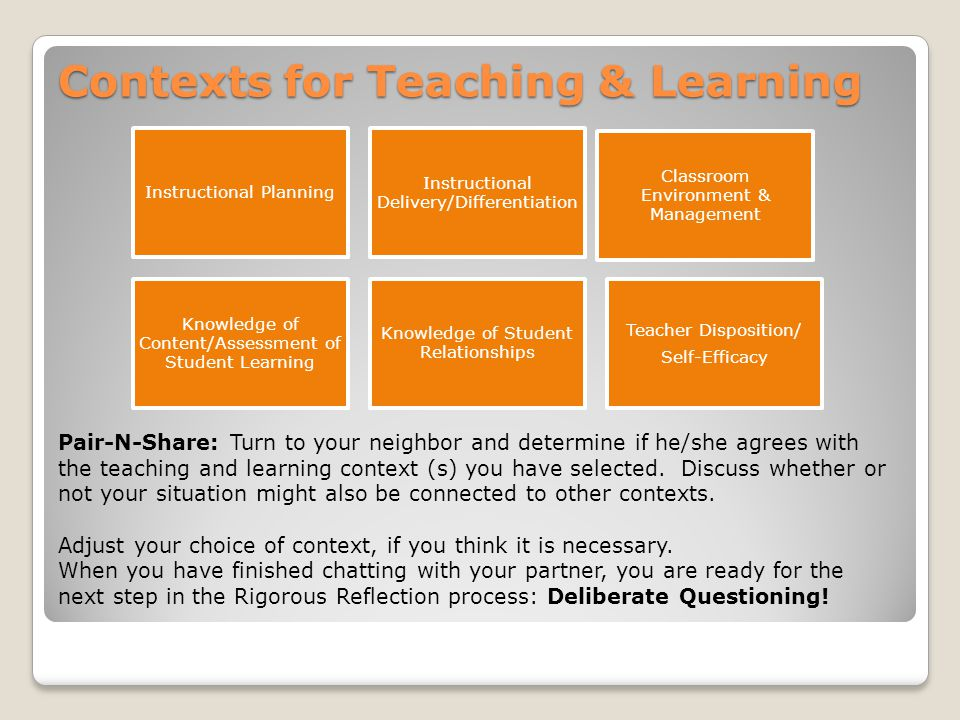 Contexts for Teaching & Learning