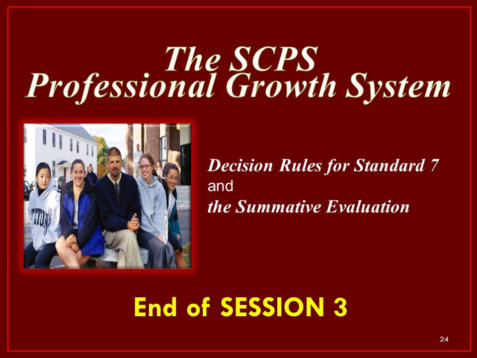 The SCPS Professional Growth System