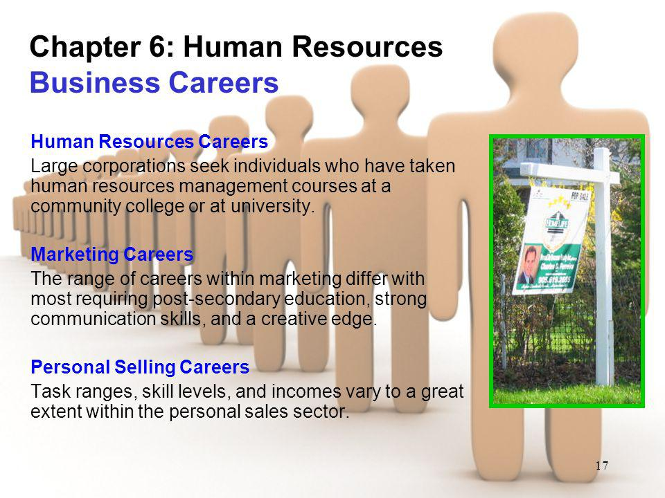 Chapter 6: Human Resources Business Careers