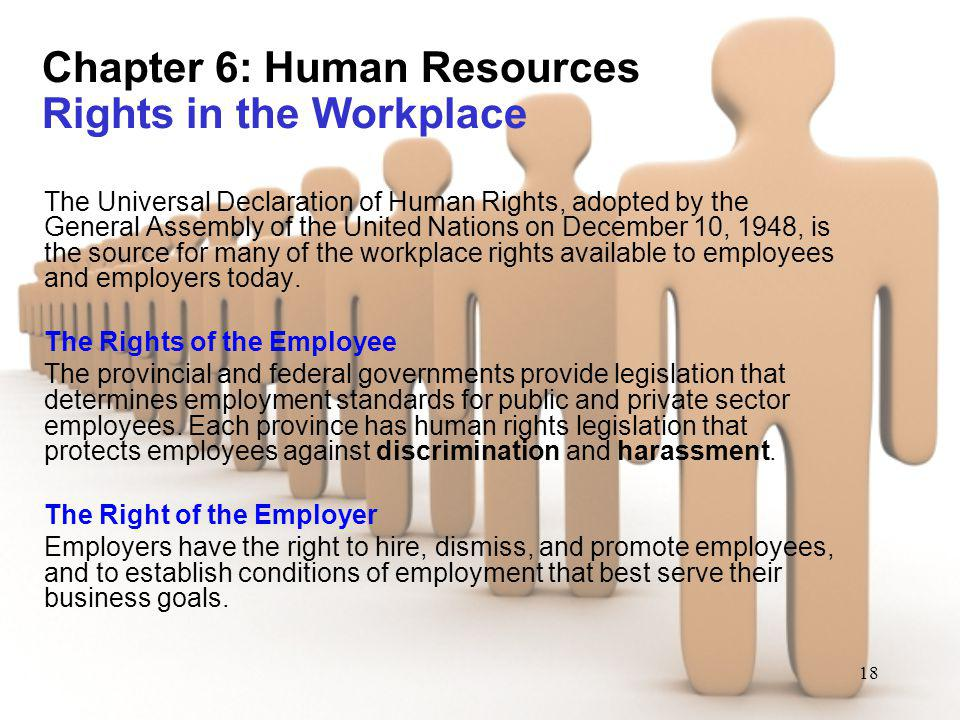 Chapter 6: Human Resources Rights in the Workplace