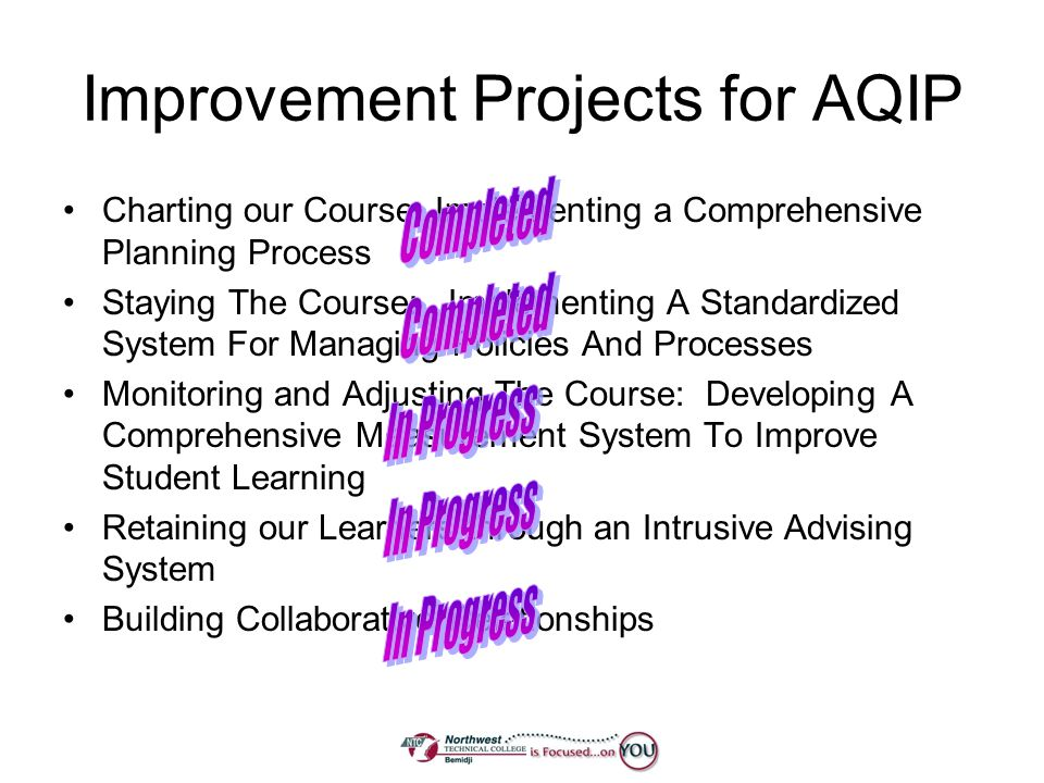 Improvement Projects for AQIP
