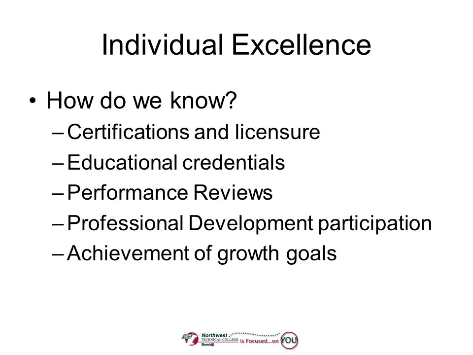 Individual Excellence