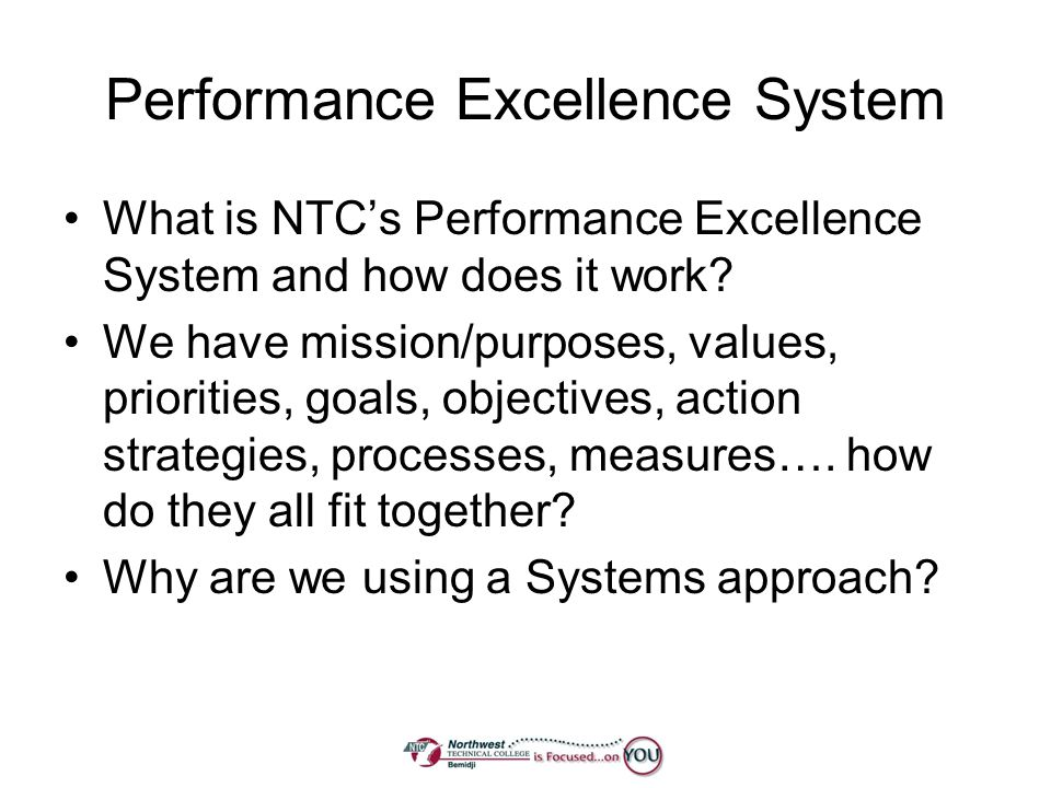 Performance Excellence System