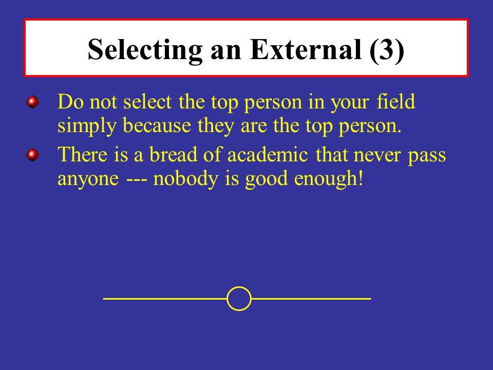 Selecting an External (3)