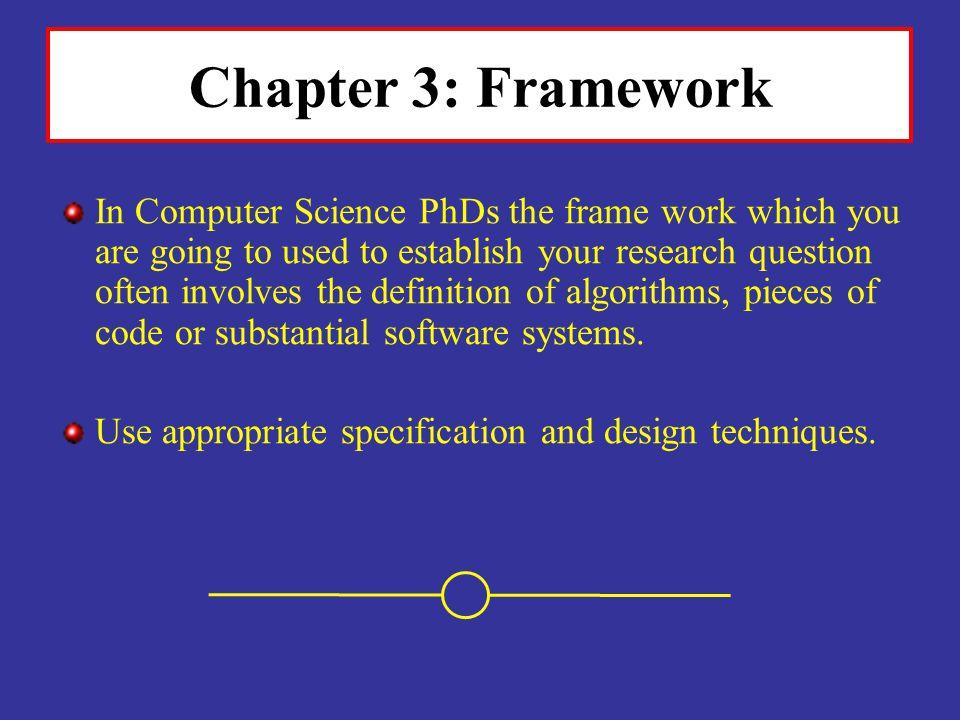 Chapter 3: Framework