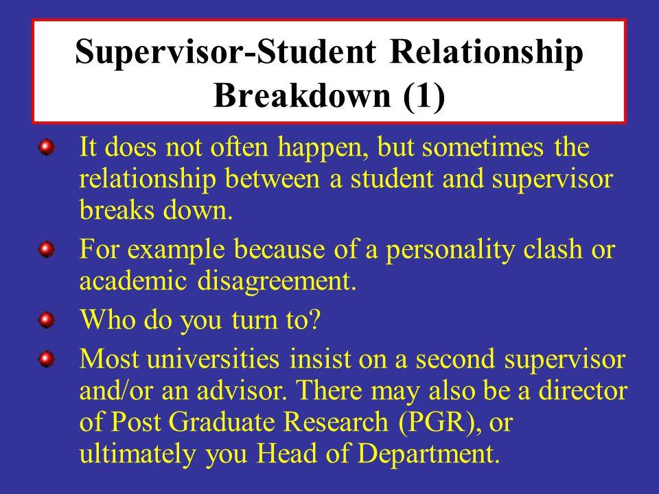 Supervisor-Student Relationship Breakdown (1)